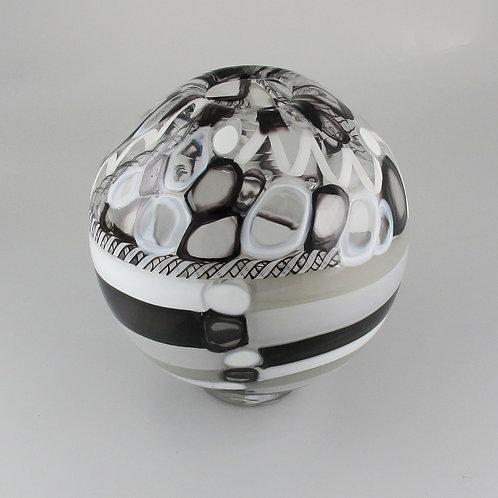 """""""Sphere"""" (B&W), 9.5"""" tall x 9"""" wide"""