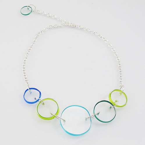 Halo Necklace (Cool Colors)