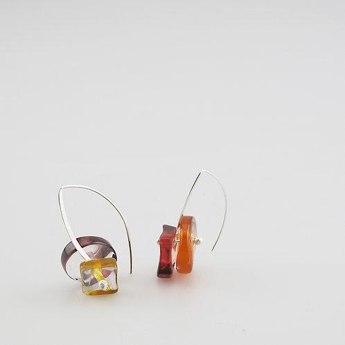 BG Earrings, Fire