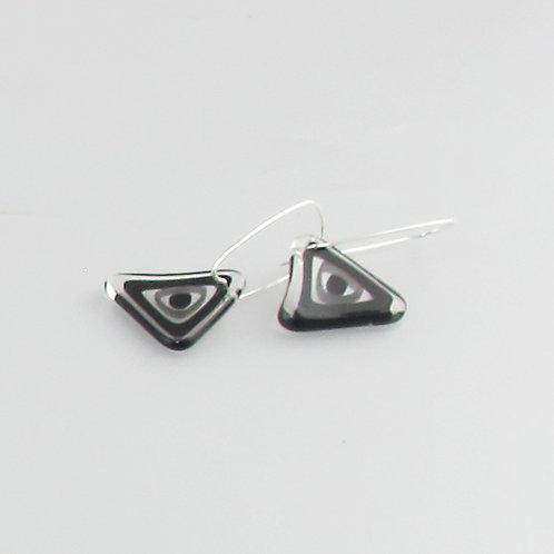 Triangle B&W Earrings