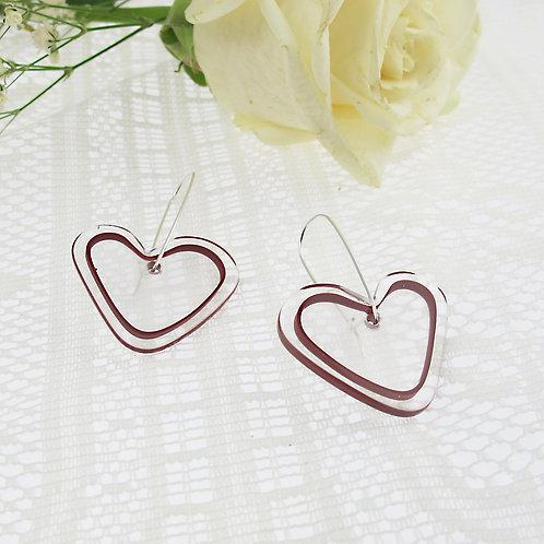 """""""Glass Heart"""" Earrings"""