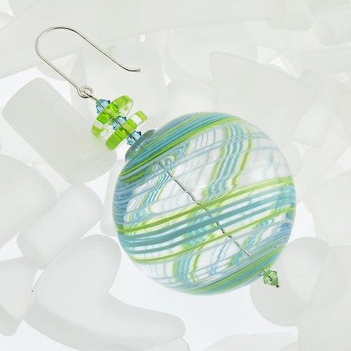 """Seafoam"" Round Ornament"