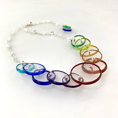 """""""Ascending"""" Necklace: Rainbow"""