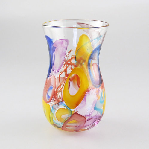 """HourGlass Cup"" (Multi)  4.5"" tall x 2.5"" wide"