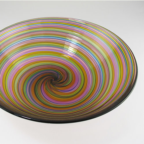 "Veil Bowl,  (Multi),   14""wide x 4.5""high"