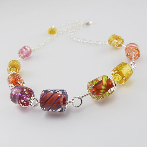 Cafe Necklace (Warm Colors)