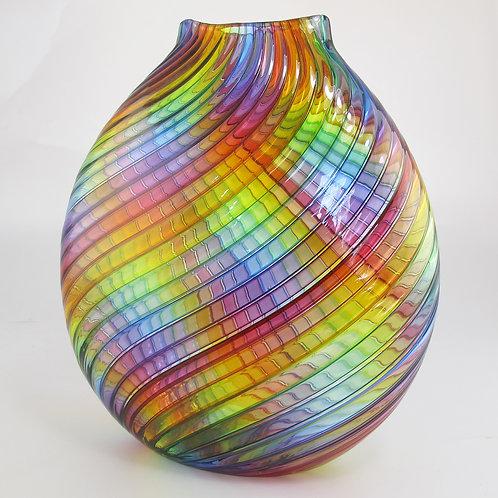 """Rainbow Flat Round       10""""h x 10""""w"""