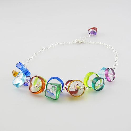 BG Necklace, Rainbow