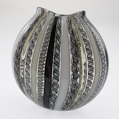 """FlatRound"" ,  (B&W) ,  8""tall x 8""wide"