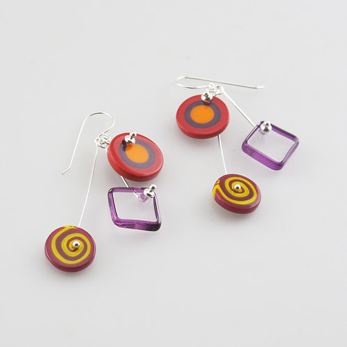 FireFlower Kinetic Earrings