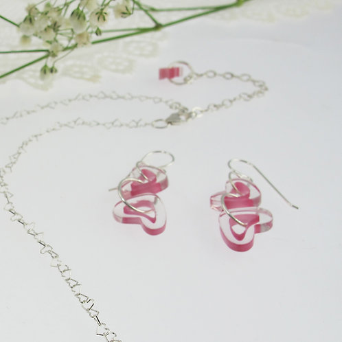 """Pretty in Pink"" Earrings"