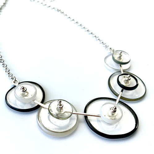 """""""Coupling"""" Necklace: B&W"""