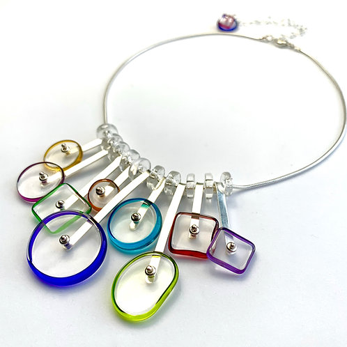 """Kinetic"" Necklace: Multi"