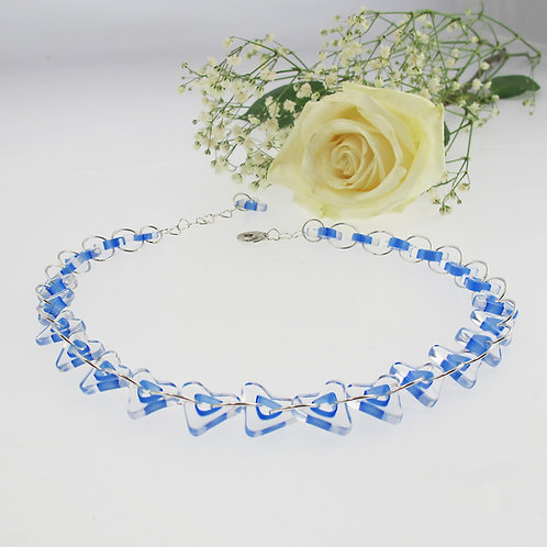 """Periwinkle Heart Chain"" Necklace"