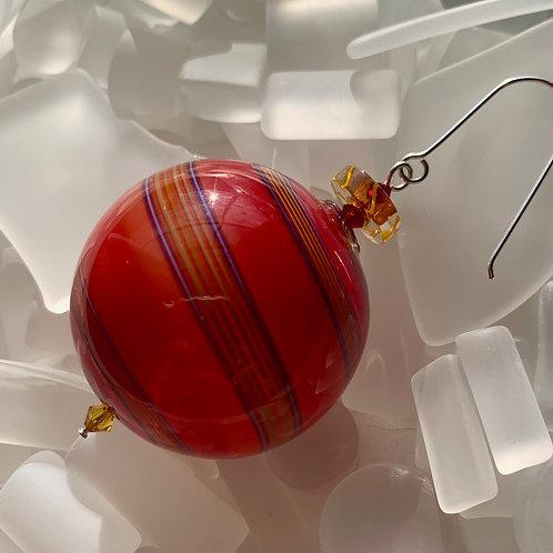 """""""Fire"""" Round Ornament"""