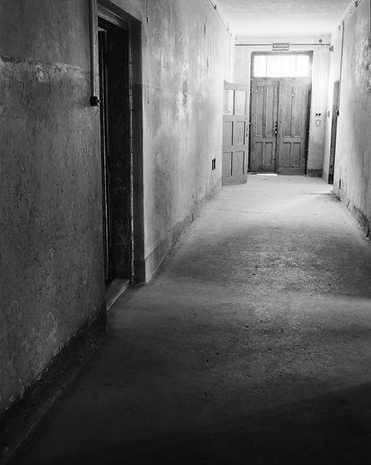Main entrance, first floor, Block 10. Auschwitz.
