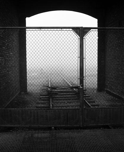 """""""Gate of Death""""  Portal through which transports entered Birkenau."""