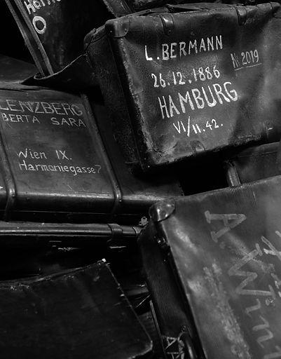 L. Bermann suitcase, property taken from deportees.