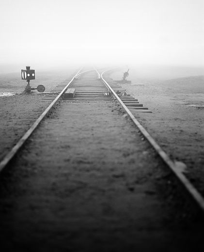 First switch, railroad track, Birkenau.