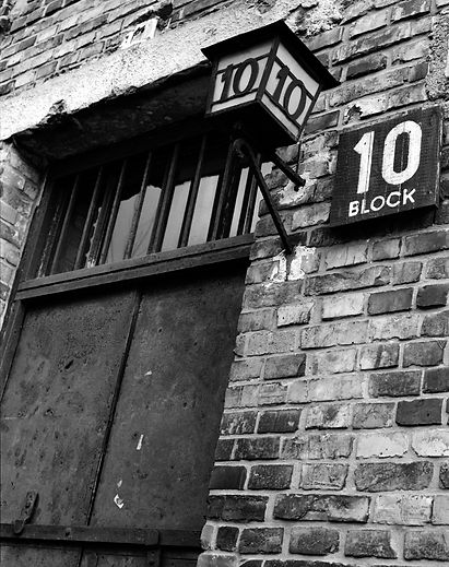 Entrance to Block 10, site of sterilization experiments..