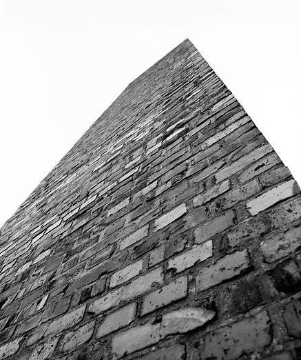 Chimney of the crematorium, Auschwitz.