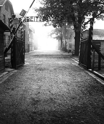 """Main Gate, Auschwitz, """"Arbeit Macht Frei"""""""