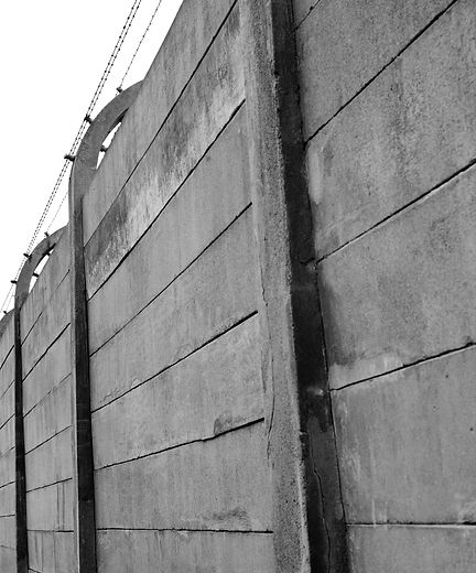 Perimeter wall that surrounds portions of Auschwitz.
