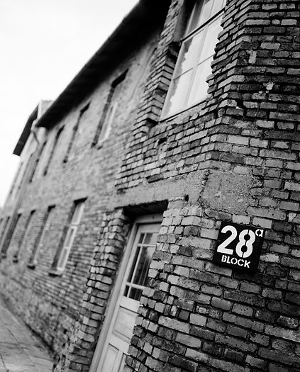 Block 28 served as an infirmary during the camp's operation.