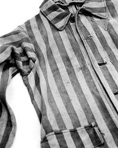 Prisoner's coat, part of a prisoner's uniform.
