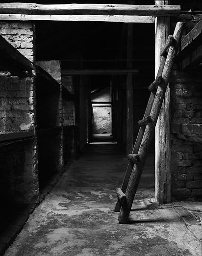 Women's sleeping quarters, women's barrack, Birkenau.