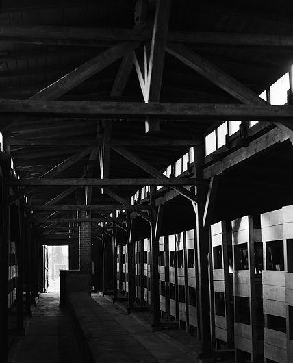 Men's barrack, Birkenau.