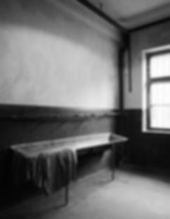 Men's washroom, Block 11, Auschwitz.