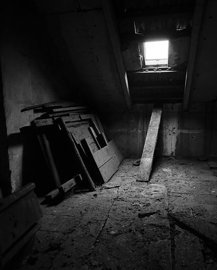 Attic of Block 28, Auschwitz.