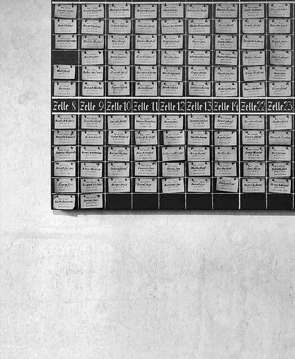 Prisoners' names, Block 11, Auschwitz.