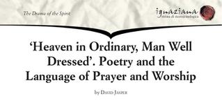 Professor David Jasper - Heaven in Ordinary, Man Well Dressed