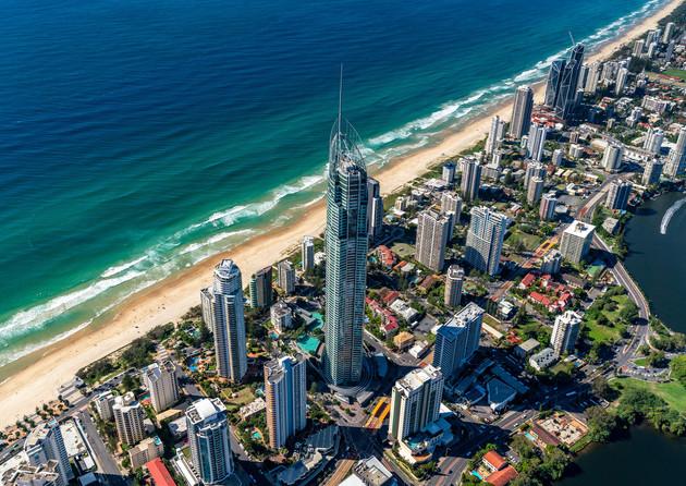 Gold Coast - Heli - Aerial - Stock - Pho