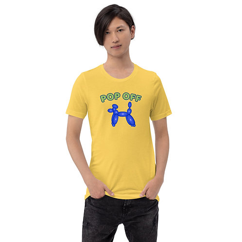 POP OFF Balloon Animal Short-Sleeve Unisex T-Shirt
