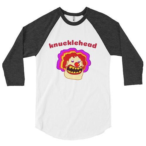 Knucklehead Clown - 3/4 sleeve raglan shirt