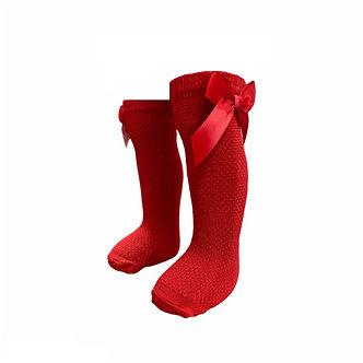 BC17  Calceta texturizada color rojo