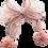 Thumbnail: BROCH03 Moño rosa con pinza forrada