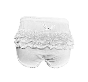Calzón color blanco con encaje trasero tallas