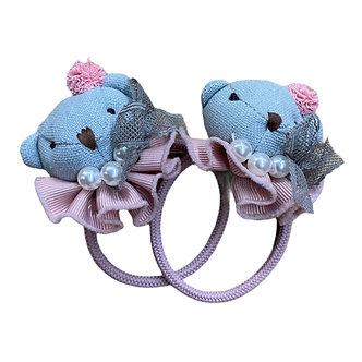 BROCH24 Broche ligas oso perlas azul