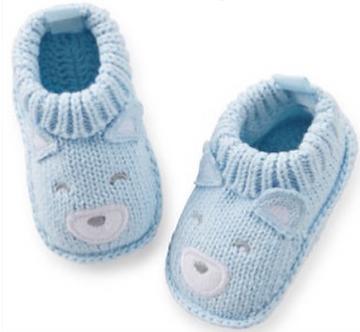 ZNB13 Zapatitos Crochet Osito azul