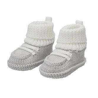 ZNB15 Zapatitos Crochet Gris