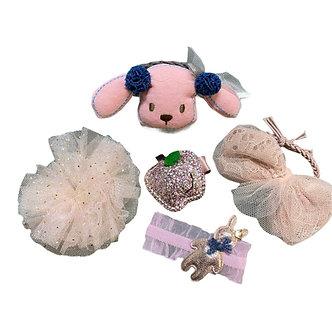 BROCH26 Broche Set perrito rosa