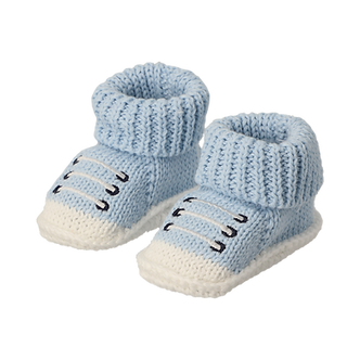 ZNB10 Zapatitos Crochet Tenis azul