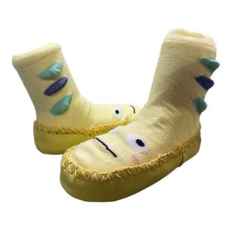 ZN01 Zapatitos suaves antiderrapantes color amarillo