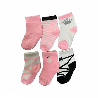 BC22 Paquete de 6 pares de calcetines -Bailarina