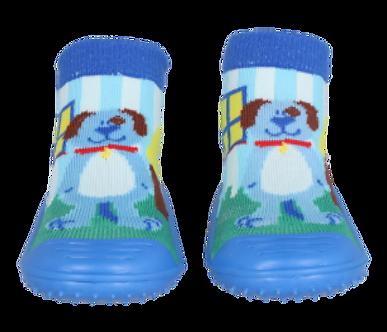 CA05 Calcetín antiderrapantes perro azul