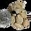 Thumbnail: BROCH05 Par de broches Ositos dorados